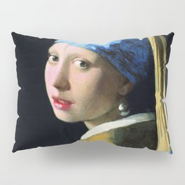 Jan Vermeer Girl With A Pearl Earring Baroque Art Pillow Sham