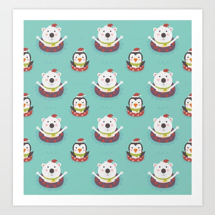 Holiday Warming (Patterns Please) Art Print