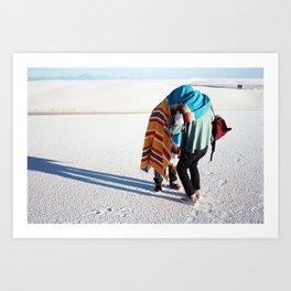 WHITE SANDS. Art Print