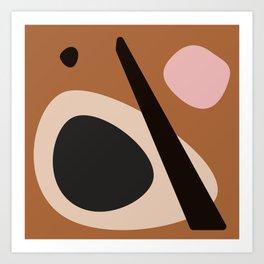 abstract brown Art Print