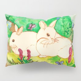 Garden Bunnies Pillow Sham