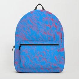 eruption, red on blue Backpack