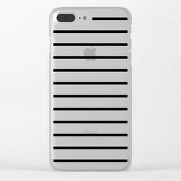 Black & White Stripes 6 Clear iPhone Case