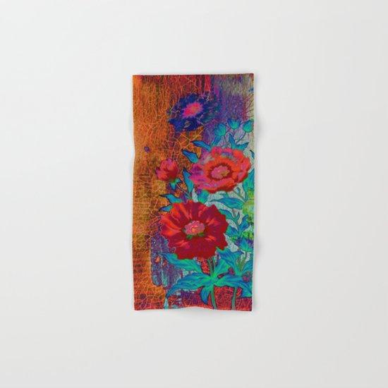 floral old tile Hand & Bath Towel
