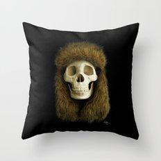 Northern Skull Throw Pillow