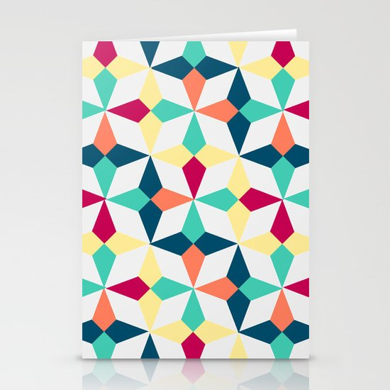 FloralGeometric Stationery Cards