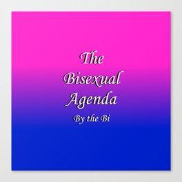 The Bisexual Agenda Canvas Print