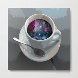 galaxy coffee Metal Print