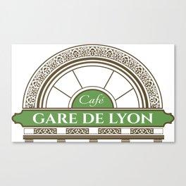 Café gare de Lion Canvas Print