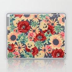 SEPIA FLOWERS -poppies, pansies & sunflowers- Laptop & iPad Skin