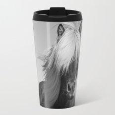Portrait of a Horse in Scotish Highlands Travel Mug