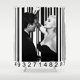 Mastroianni and Ekberg inside a barcode Shower Curtain