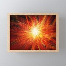 Fire Burst Framed Mini Art Print