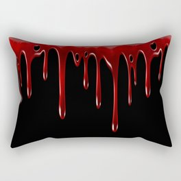 Blood Dripping Black Rectangular Pillow