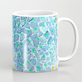 Street Floor Tiles Feeling Turquoise Tiger-Polka Dot...ish! Coffee Mug