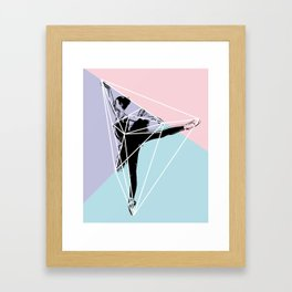 Prism Geo Dancer Framed Art Print