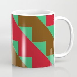Toothy Tooths, red and brow, eating grass Coffee Mug