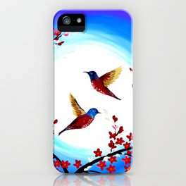 Red Cherry Blossom iPhone Case
