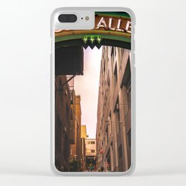 Post Alley in Seattle Washington Clear iPhone Case