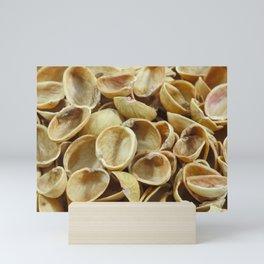 Pistachio shells Mini Art Print