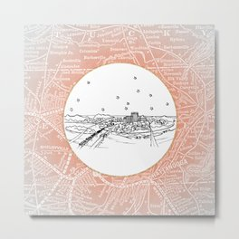 Chattanooga, Tennessee City Skyline Illustration Drawing Metal Print