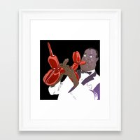 louis armstrong Framed Art Prints featuring Armstrong by Mitt Roshin