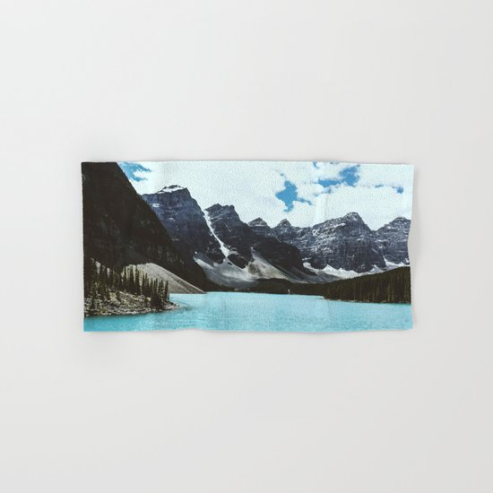 Lake Moraine landscape Hand & Bath Towel