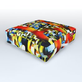 Love In Abstract Outdoor Floor Cushion