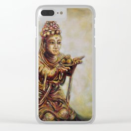 """""""The Offering of the Six Devas - Fruit"""" Clear iPhone Case"""