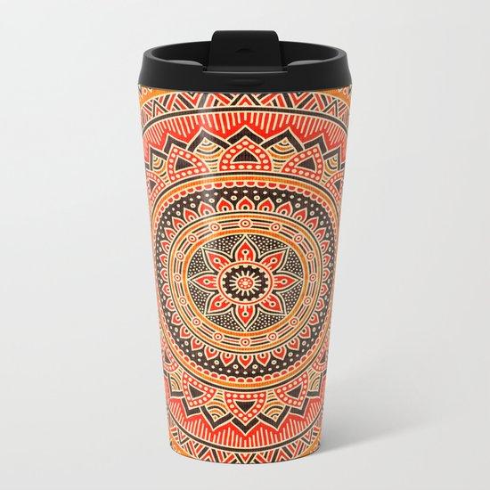 Hippie Mandala 12 Metal Travel Mug