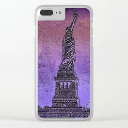 Lady Liberty #5 Clear iPhone Case
