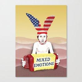 Mixed emotions Canvas Print