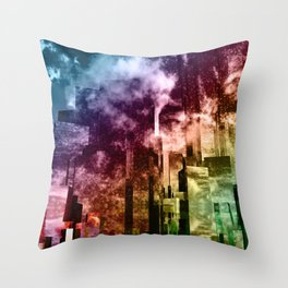 Q-City Three Throw Pillow