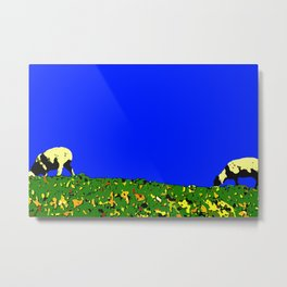 Bookends - Two Sheep - Cuckmere Haven, Sussex, UK Metal Print