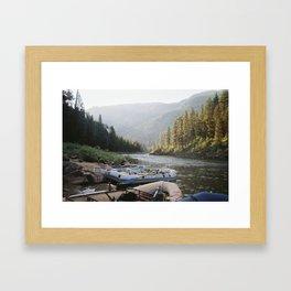 morning rafts Framed Art Print