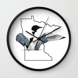 Minnesota – Common Loon Wall Clock