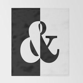 Black & White Throw Blanket