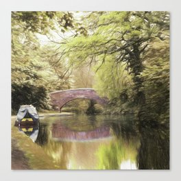 Tranquil Canal at Tamworth Canvas Print