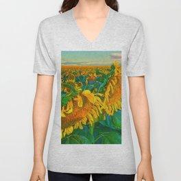 Sunflowers Unisex V-Neck