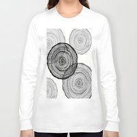 tree rings Long Sleeve T-shirts featuring rings by Claire Rose Kleese