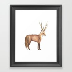 The Disguise: A Fox Framed Art Print