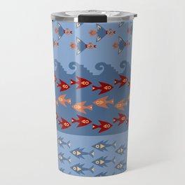 Inca Ethnic Pattern Fish and Birds Travel Mug