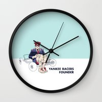 rushmore Wall Clocks featuring Rushmore by joshuahillustration
