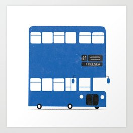 Chelsea bus Art Print