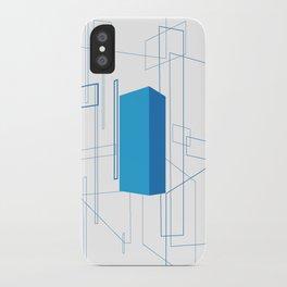 Blueprint #3 (blue) iPhone Case