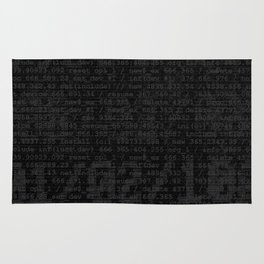 Digital Black Rug
