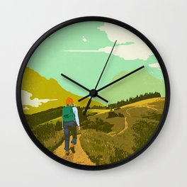 WARM TRAILS Wall Clock
