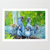 rio Art Prints featuring Rio by Elise Hoglund
