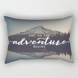 Trillium Adventure Begins - Nature Photography Rectangular Pillow