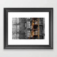 Ancient scaffold 2 Framed Art Print